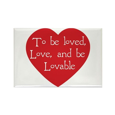 Love and be Lovable Rectangle Magnets ~ Pack of 100