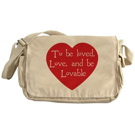 Love and be Lovable Canvas Messenger Bag