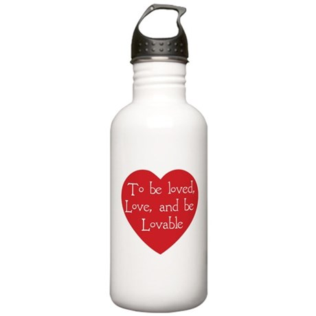 Love and be Lovable One Liter Stainless Water Bottle