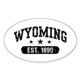Wyoming Est. 1890 Decal