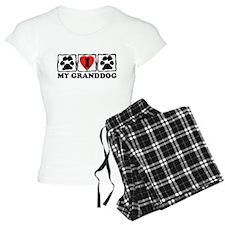 I Love My Granddog Pajamas
