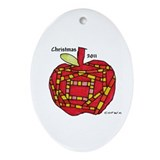 Apple Ornament (Oval)