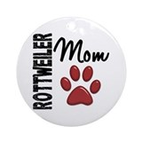 Rottweiler Mom 2 Ornament (Round)