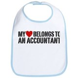 My Heart Accountant Bib