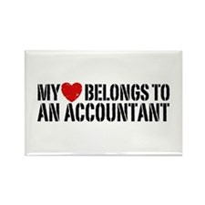 My Heart Accountant Rectangle Magnet