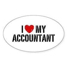 I Love My Accountant Decal