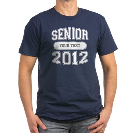 Customizable Senior 2012 Men's Fitted T-Shirt (dar