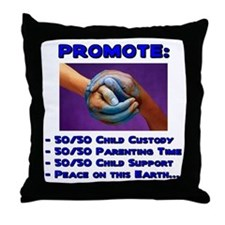 Promote 50/50 World Blue Throw Pillow