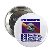 "Promote 50/50 World Blue 2.25"" Button (100 pack)"