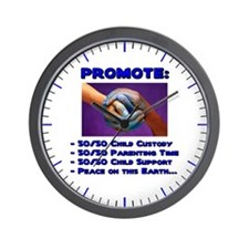 Promote 50/50 World Blue Wall Clock