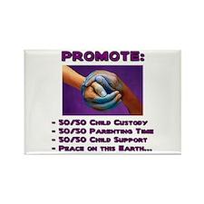Promote 50/50 World Purple Rectangle Magnet