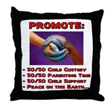 Promote 50/50 World Red Throw Pillow