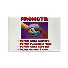 Promote 50/50 World Red Rectangle Magnet