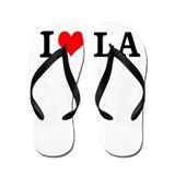 I Love Los Angeles LA L.A. Flip Flops Sandals
