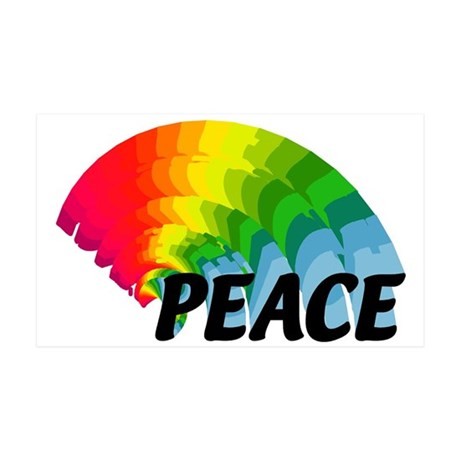 Rainbow Peace 38.5 x 24.5 Wall Peel
