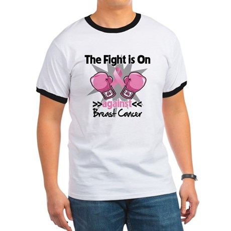 Fight is On Breast Cancer Ringer T