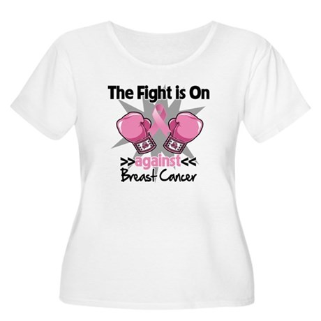 Fight is On Breast Cancer Women's Plus Size Scoop