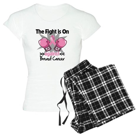 Fight is On Breast Cancer Women's Light Pajamas