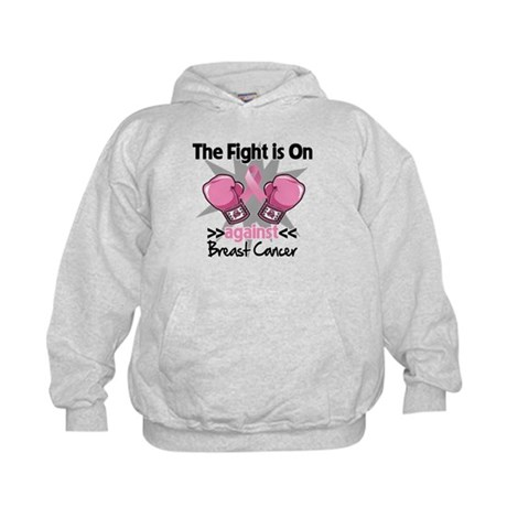 Fight is On Breast Cancer Kids Hoodie