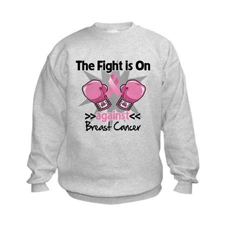 Fight is On Breast Cancer Kids Sweatshirt