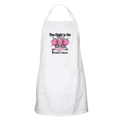 Fight is On Breast Cancer Apron