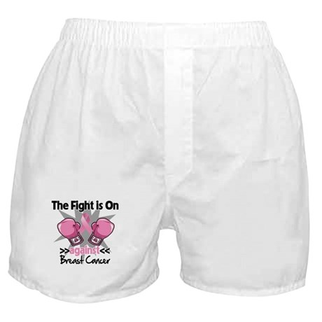 Fight is On Breast Cancer Boxer Shorts