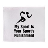 Running Punishment Throw Blanket