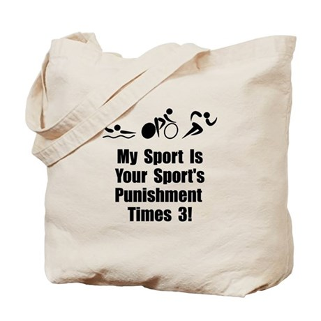 Triathlon Punishment Tote Bag