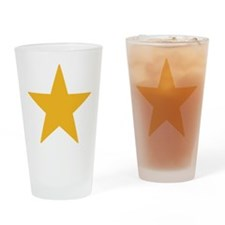 Gold Star Drinking Glass