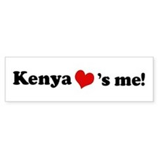 Kenya loves me Bumper Bumper Sticker