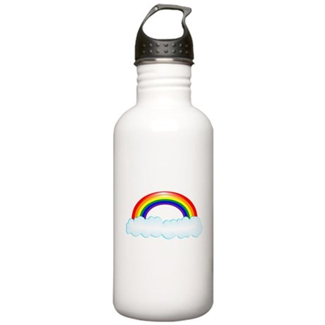 Rainbow with clouds Stainless Water Bottle 1.0L
