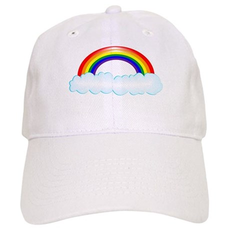 Rainbow with clouds Cap