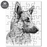 Pup German Shepherd Pencil Dr Puzzle