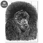 Black Poodle Pencil Drawing Puzzle
