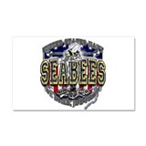 USN Navy Seabees Anchor Shiel Car Magnet 20 x 12