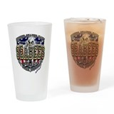 USN Navy Seabees Anchor Shiel Drinking Glass