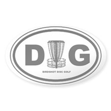 DG Oval - Disc Golf - Decal