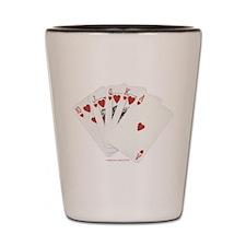 Royal Flush Poker Shot Glass