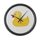 Yellow Rubber Duck Large Wall Clock