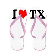 I Love Texas TX Flip Flops Sandals