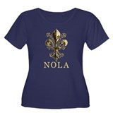 NOLA Antique Fleur Women's Plus Size Scoop Neck Da