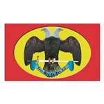 Masonic Scottish Rite Rectangle Sticker