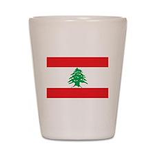 Flag of Lebanon Shot Glass