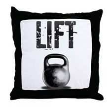Kettlebell LIFT Workout Throw Pillow