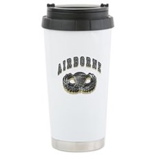 US Army Airborne Wings Silver Travel Mug
