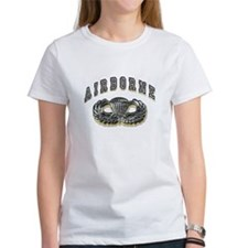 US Army Airborne Wings Silver Tee