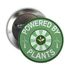 """Powered By Plants Badge 2.25"""" Button (10 pack"""