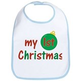 Baby's First Christmas Bib