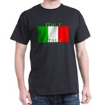 Italy Italian Flag Black T-Shirt