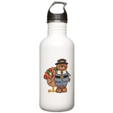 Thanksgiving Bear Water Bottle